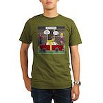 Car Christmas Present Organic Men's T-Shirt (dark)