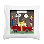 Car Christmas Present Square Canvas Pillow