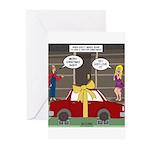 Car Christmas Present Greeting Cards (Pk of 10)