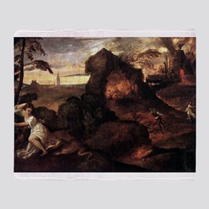 Orpheus and Eurydice - Titian - c1508 Throw Blanke