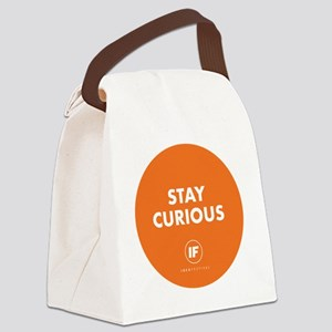 2012 Stay Curious Round Canvas Lunch Bag