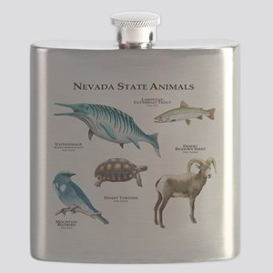 Nevada State Animals Flask