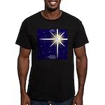 Christmas Star Men's Fitted T-Shirt (dark)