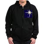 Christmas Star Zip Hoodie (dark)