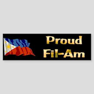 Proud Fil-Am Gifts Bumper Sticker