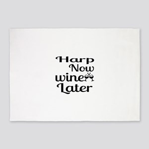 Harp Now Wine Later 5'x7'Area Rug