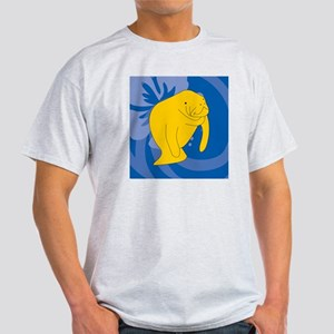 Manatee Sticky Notepad Light T-Shirt