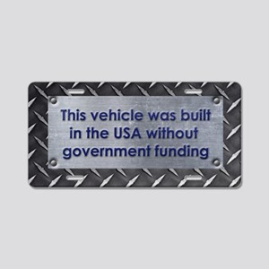 Built in the USA Aluminum License Plate