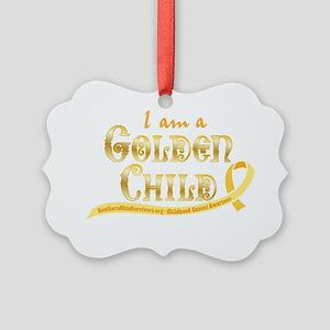 I am a Golden Child Picture Ornament