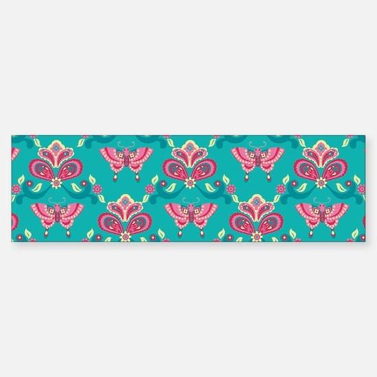 Butterfly_Teal_Large Sticker (Bumper)