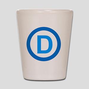 Democratic D Design Shot Glass