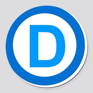 Democratic D Design Round Car Magnet