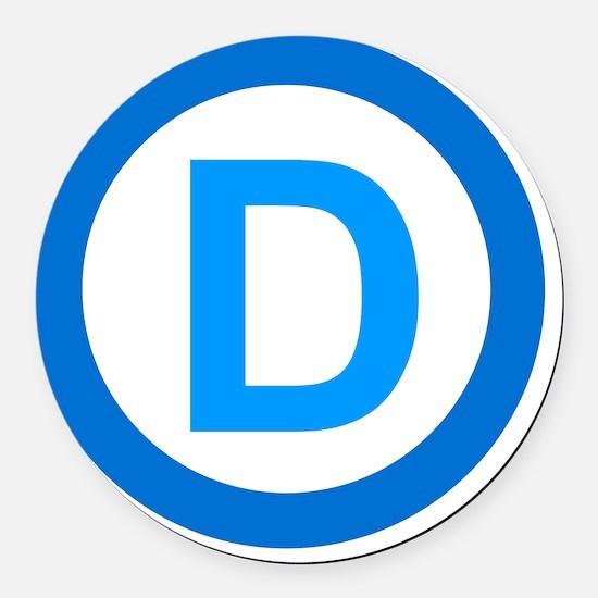 Democratic D Design Round Car Magnet