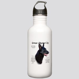 Black GSD Stainless Water Bottle 1.0L