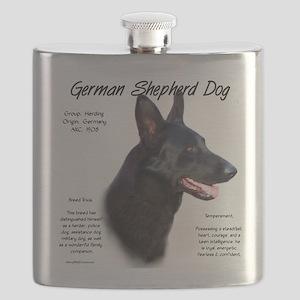 Black GSD Flask