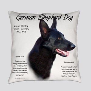 Black GSD Everyday Pillow