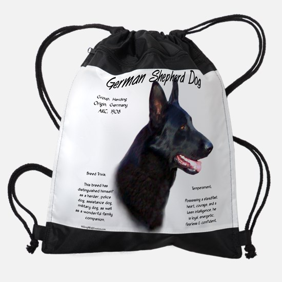 Black GSD Drawstring Bag