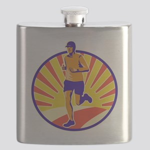 Marathon Runner Athlete Running Flask