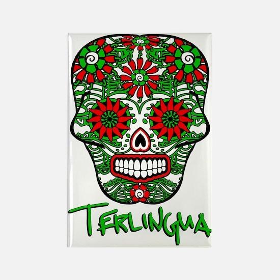 Terlingua Chili Pepper Sugar Skul Rectangle Magnet