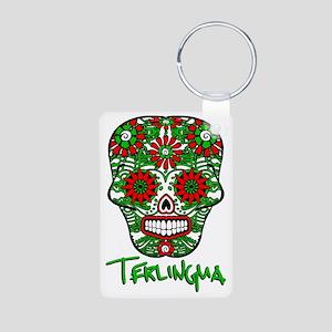 Terlingua Chili Pepper Sug Aluminum Photo Keychain