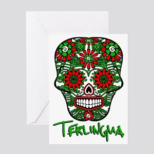 Terlingua Chili Pepper Sugar Skull Greeting Card