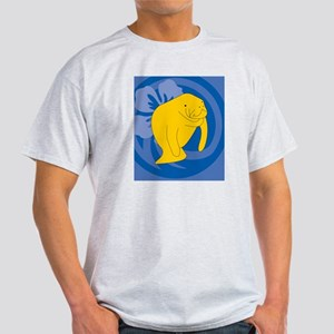 Manatee Hexagon Ornament Light T-Shirt