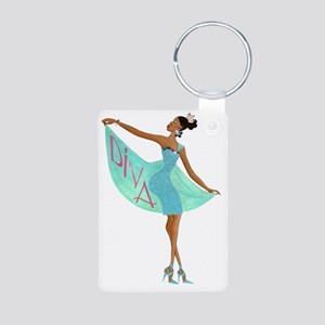 Fabulous Diva Aluminum Photo Keychain