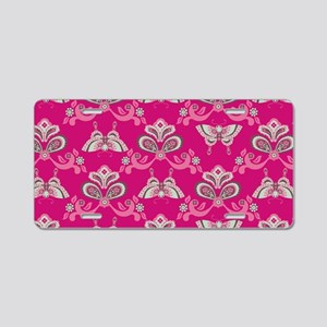 ButterflyAsian_Pink_Large Aluminum License Plate