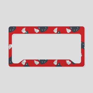CatCute_Red_Large License Plate Holder