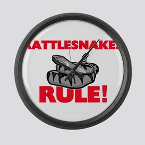 Rattlesnakes Rule! Large Wall Clock