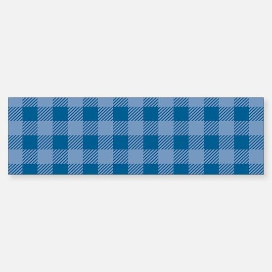 Plaid_Blue1_Large Sticker (Bumper)
