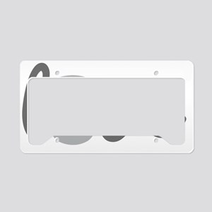 Love Kettlebell Grey License Plate Holder
