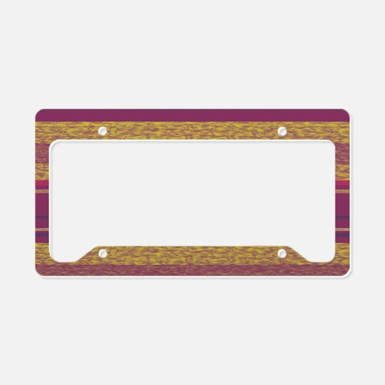 TexturedStripes_Magenta_Large License Plate Holder
