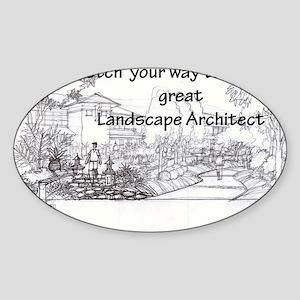 Landscape Architect Sticker (Oval)