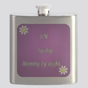 LPN by day Mommy by night Flask