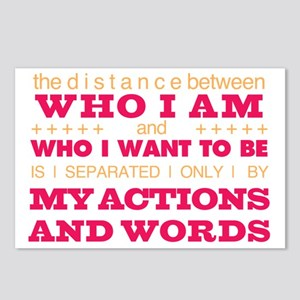 My Actions and Words Pink Postcards (Package of 8)