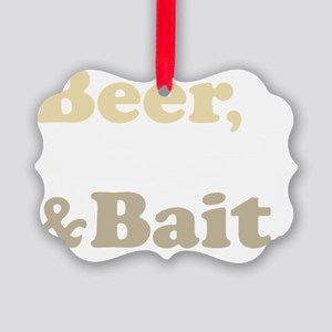 Beer Boats Bait Fishing Picture Ornament
