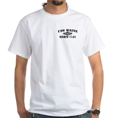 USS MAINE White T-Shirt