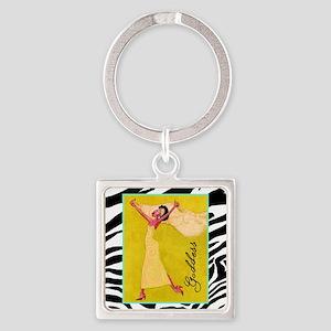 Goddess Square Keychain