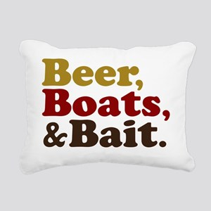 Beer Boats Bait Fishing Rectangular Canvas Pillow