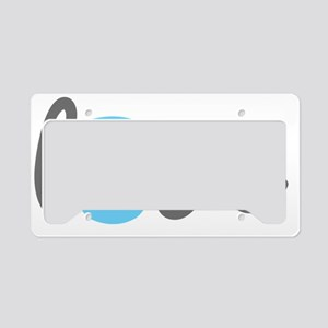 Love Kettlebell Blue License Plate Holder