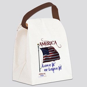 America Love It or Leave it Canvas Lunch Bag