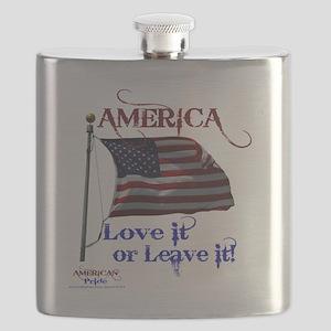 America Love It or Leave it Flask