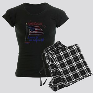 America Love It or Leave it Women's Dark Pajamas
