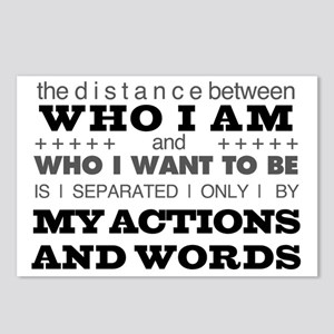 My Actions and Words Grey Postcards (Package of 8)