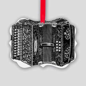 Vintage Accordion Picture Ornament