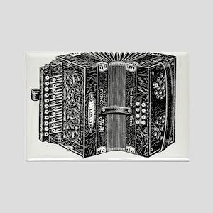 Vintage Accordion Rectangle Magnet