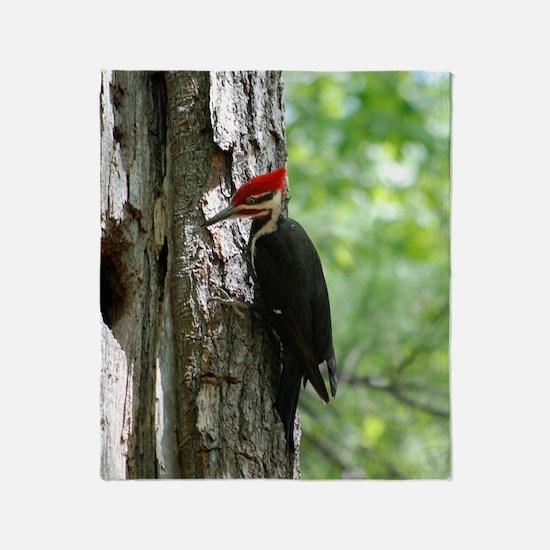Pileated Woodpecker Throw Blanket