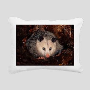 Opossum Rectangular Canvas Pillow