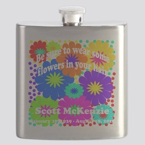Be sure to wear some flowers Flask